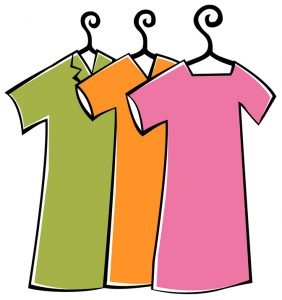 Clothes with hanger